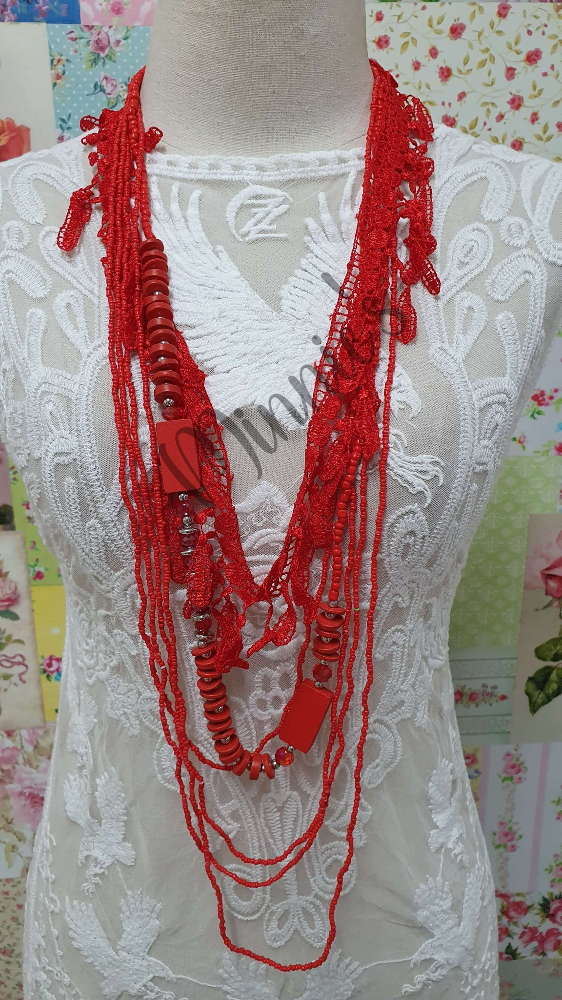 Red Necklace JU0121