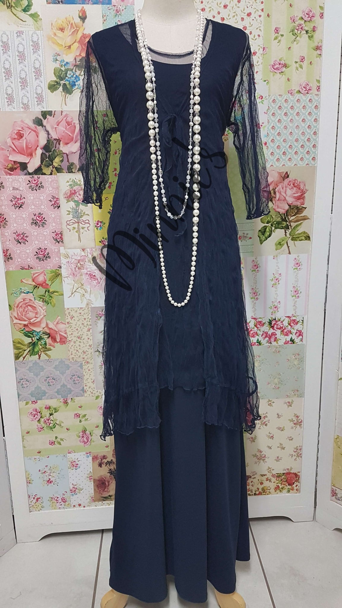 Navy 3-Piece Dress Set MD0120