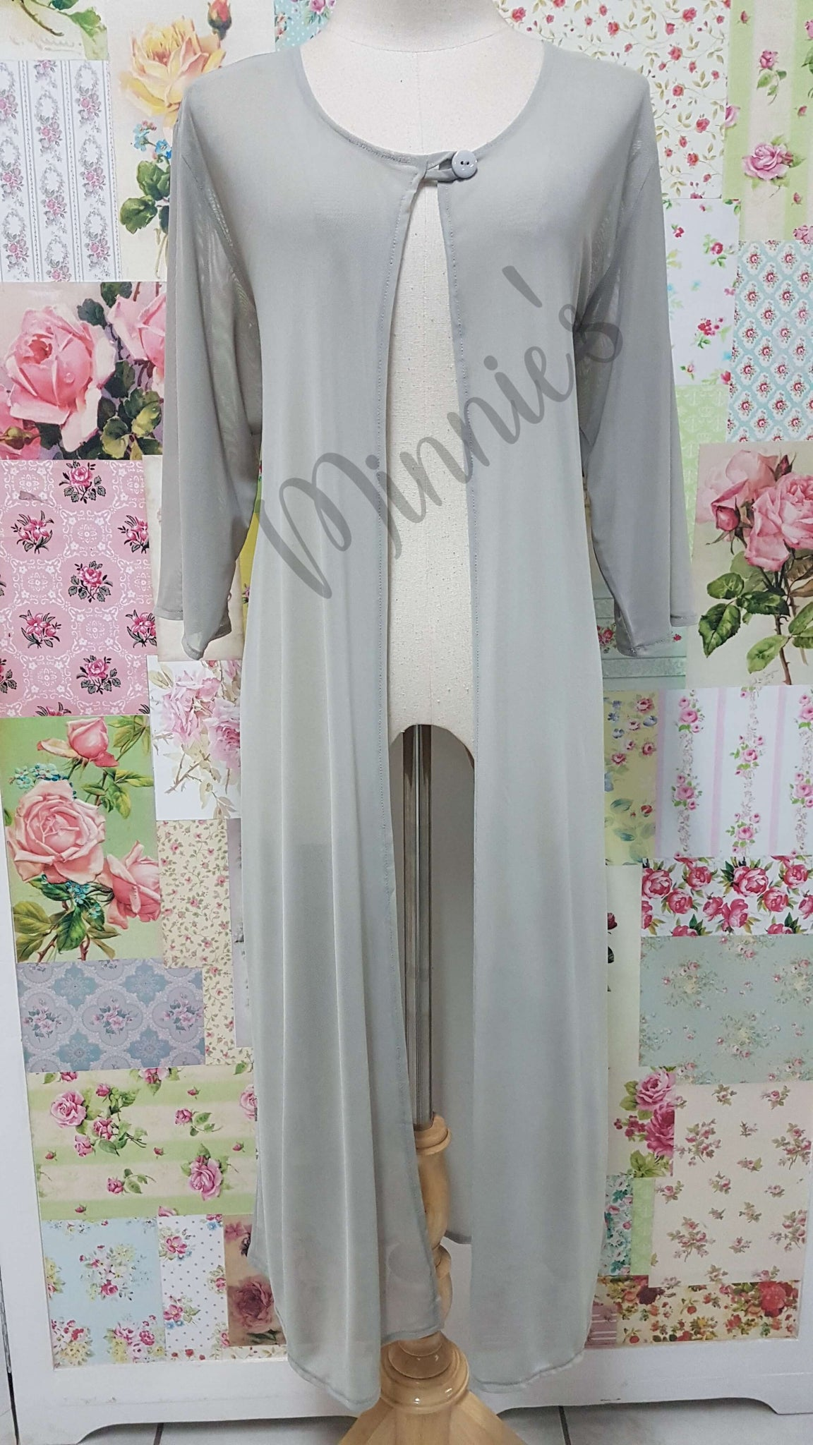 Light Grey Mesh Top GD0194