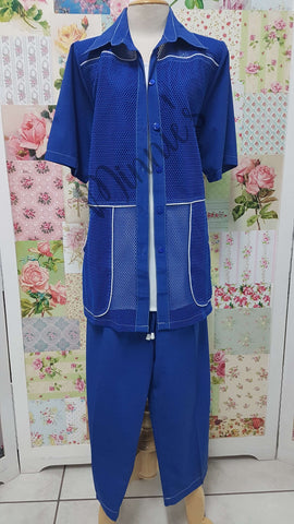 Royal Blue 3-Piece 3/4 Pants Set BS0130