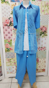 Light Blue 3-Piece 3/4 Pants Set BS0129