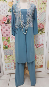 Duck Egg Blue 3-Piece Pants Set MB0236