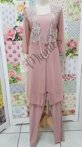 Dusty Pink 3-Piece Pants Set MB0234