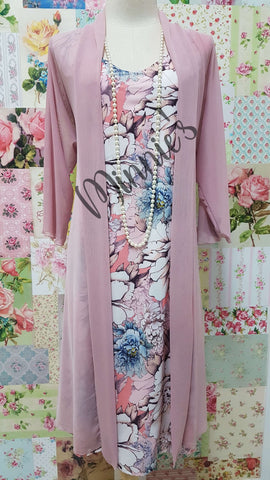 Dusty Pink 2-Piece Dress Set NA0101
