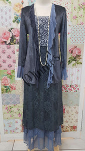 Blue 3-Piece Dress Set ML0202