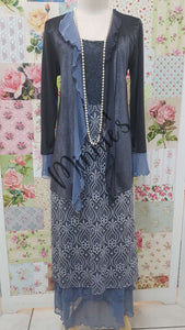 Blue 3-Piece Dress Set ML0203