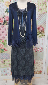 Navy Blue 3-Piece Dress Set ML0204