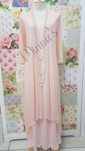 Peach 2-Piece Dress CH0511