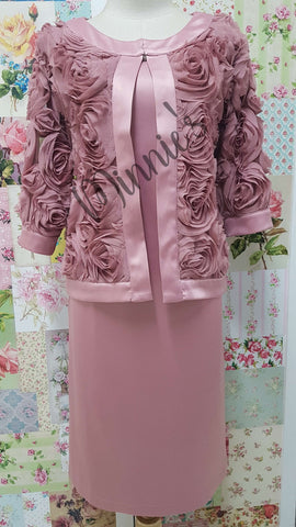 Rose Dusty Pink 2-Piece Dress NA0108