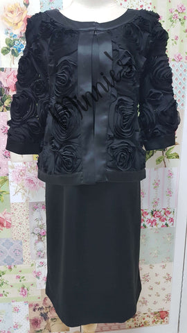 Black 2-Piece Dress Set NA0109