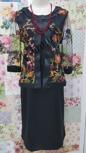 Oriental Floral Black 2-Piece Dress NA0113