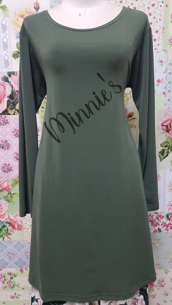 Olive Green Top CH0140