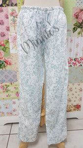 White Printed Pants AC073