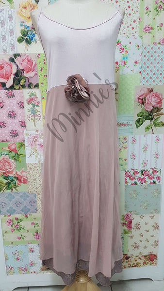 Nude 2-Piece Dress LR0493