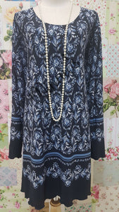 Navy Blue Tunic Top LR016