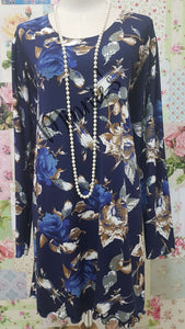 Navy Blue Top LR014
