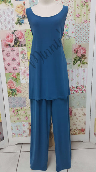 Turquoise 3-Piece Pants Set JS0150