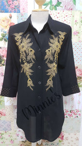 Black Blouse BU0155
