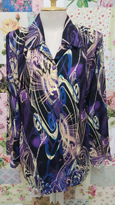 Purple Printed Blouse BK0447