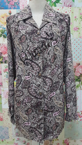 Plum Printed Blouse BT0157