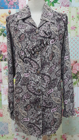 Brown Printed Blouse BT0151