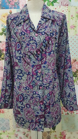 Purple & Blue Blouse BT0149