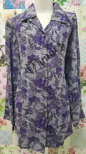 Purple & Grey Blouse BT0148