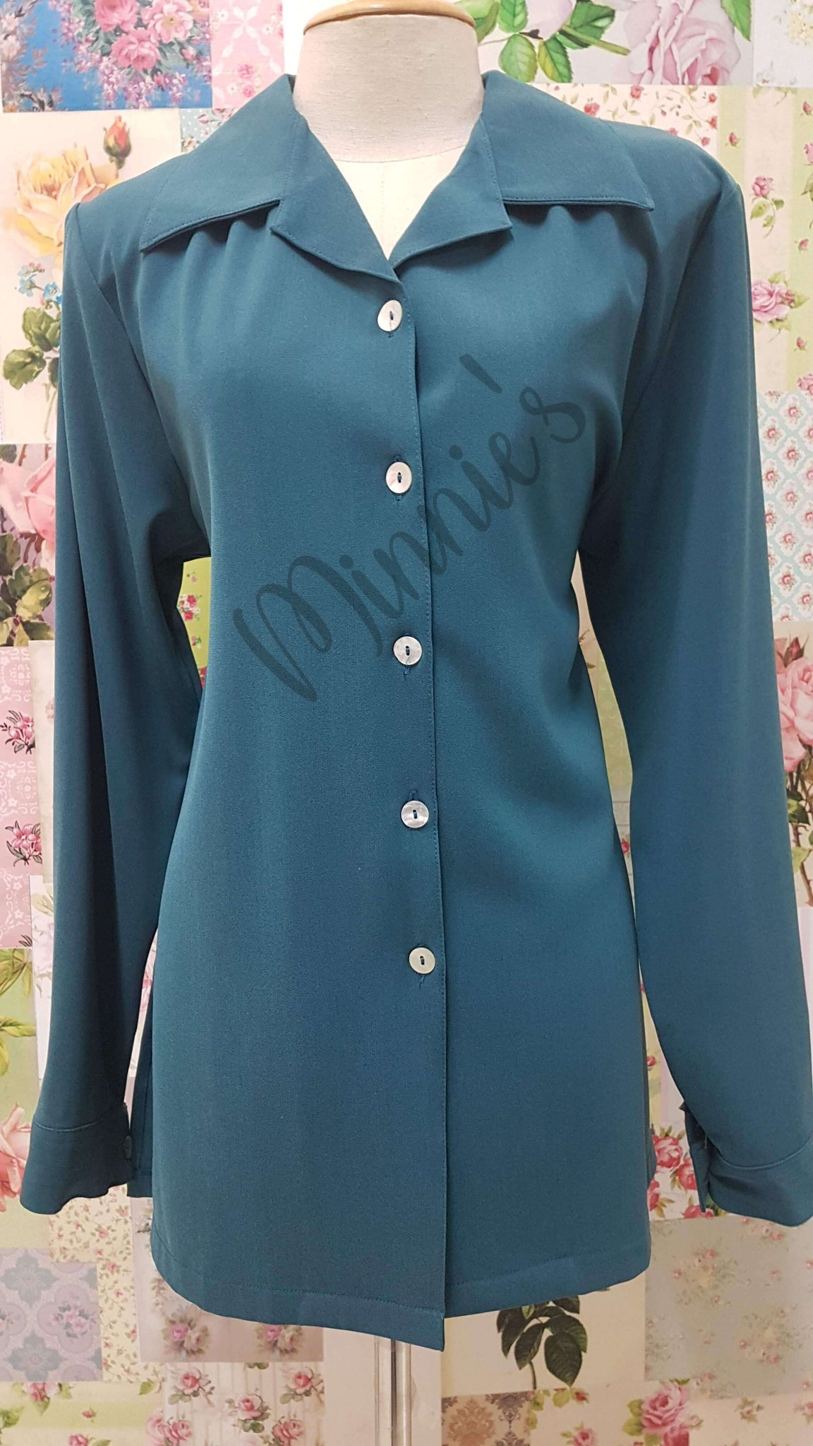 Teal Blouse BS0139