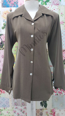 Brown Blouse BS0141