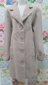 Taupe Melton Jacket BU0406