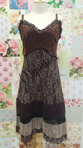 Brown Printed 2-Piece Top AG063