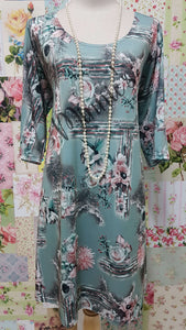 Mint Green Floral Top MD0228