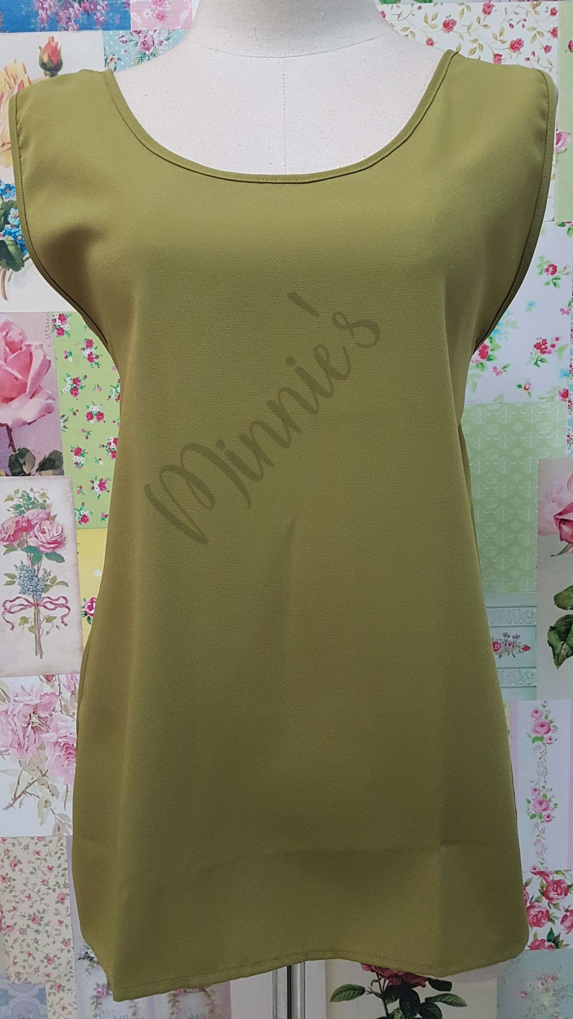 Olive Green Top BK0491