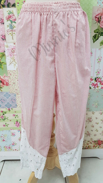 Red & White 2-Piece Pants Set BS0152