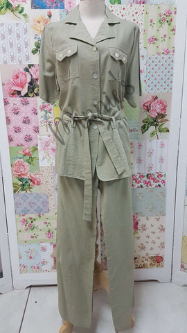 Khaki 2-Piece Pants Set BS0144