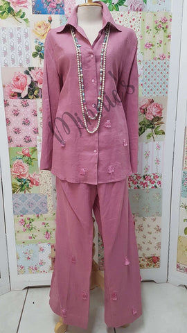 Dusty Pink 2-Piece Pants Set BS0147