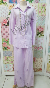 Lilac 2-Piece Pants Set BS0146