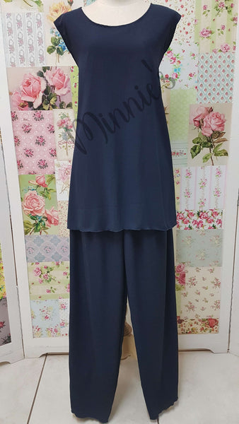 Navy Blue 3-Piece Pants Set LR028