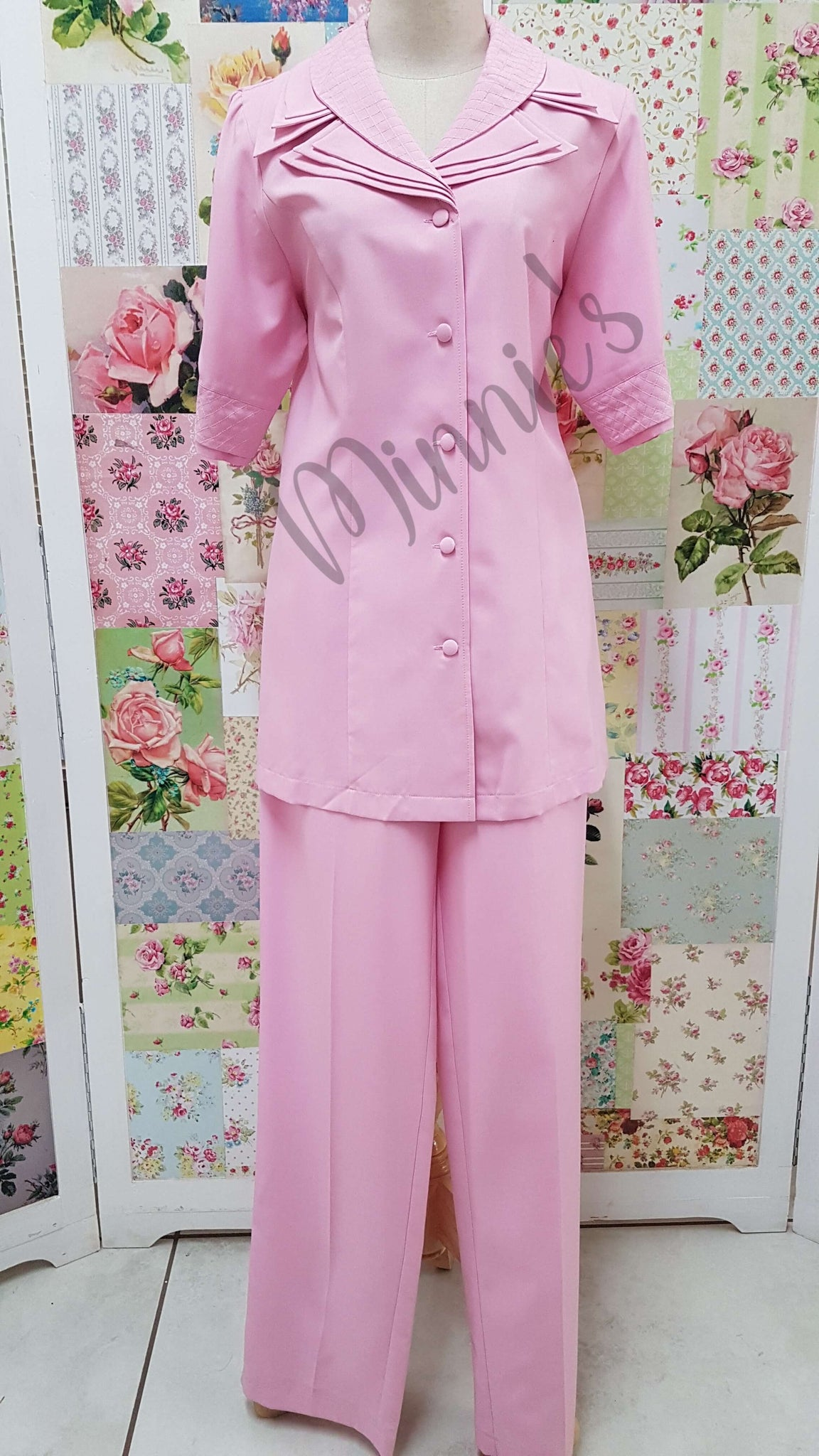 Pink 2-Piece Pants Set YO021