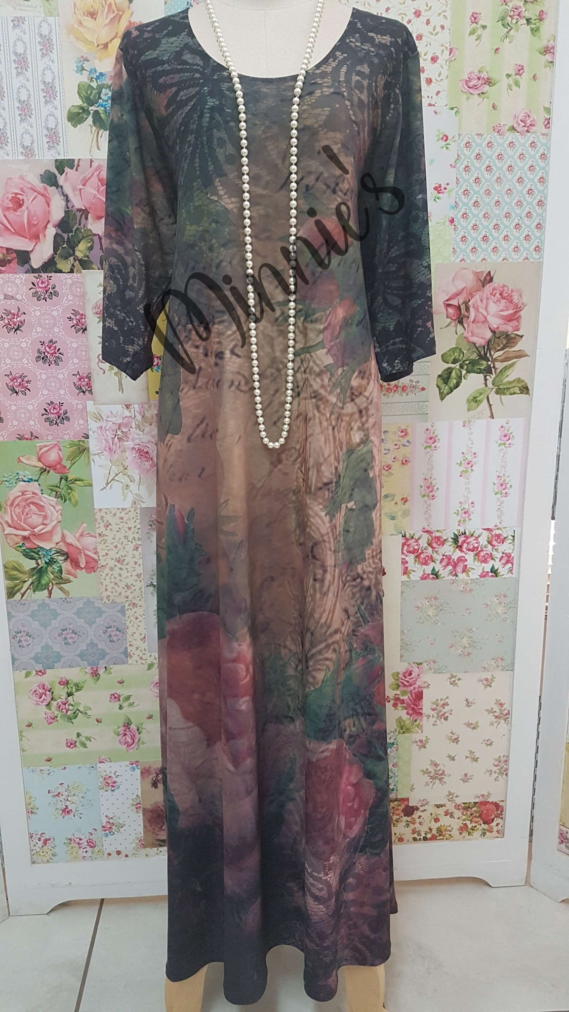 Green & Pink Dress MD002