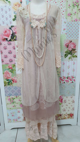 Soft Peach 4-Piece Pants Set ML0215