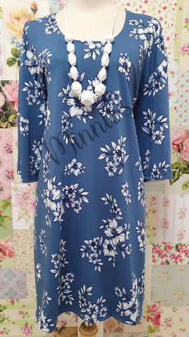 Blue Floral Top GD0198