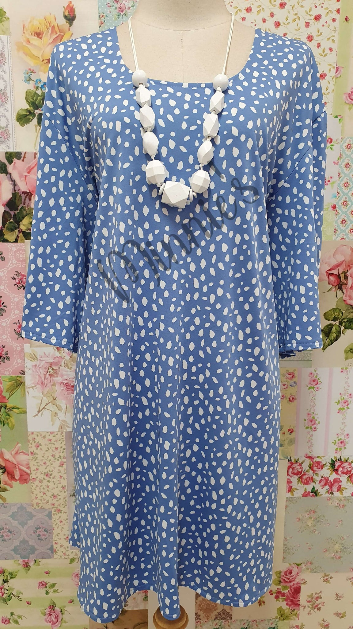 Blue Printed Top GD0201