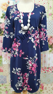 Navy Floral Top GD0204