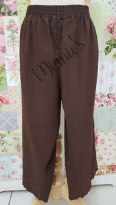 3/4 Chocolate Brown Pants BK0363