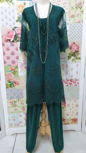 Emerald Green 3-Piece Pants Set LR044