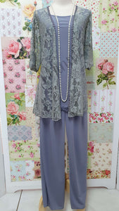 Grey 3-Piece Pants Set SZ047