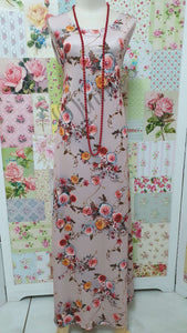 Nude Pink Floral Dress VB0127