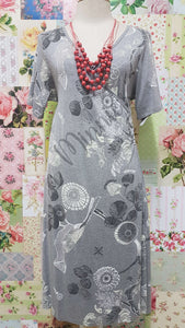 Light Grey Floral Printed Dress SW030
