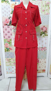 Red 2-Piece Pants Set BS028